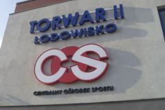 Logotyp COS wykonany z alublachy